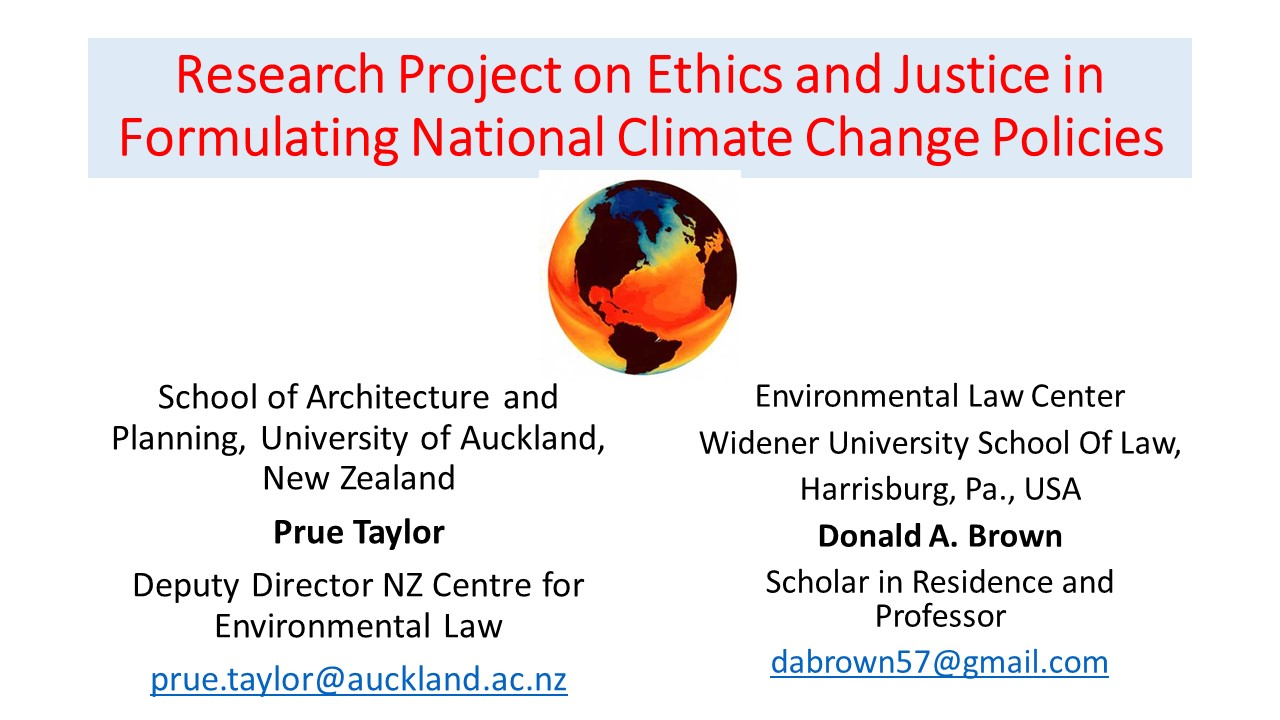 Research Project on Ethics and Justice in Formulating