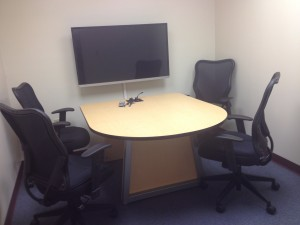 Image of four person collaboration study room