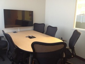 Image of six person collaboration study room