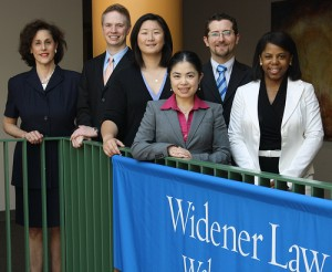 Visiting Distinguished Professor of Law Michele D. Forzley, students Nathan Trexler, Linda Zhang, Yuanyou Yang, David Walker and Celisse Williams.