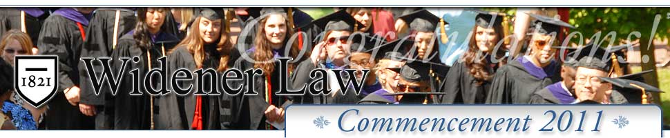 Memories from 2010 Widener Law Commencement